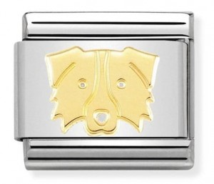 Pies Border Collie Złoty Gold 18k